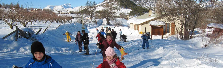 ski de fond à Venterol proche Tallard